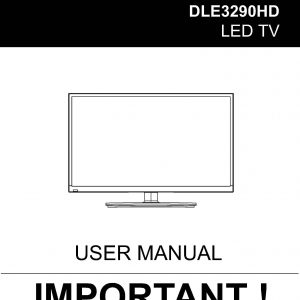 TEAC DLE3290HD User Manual