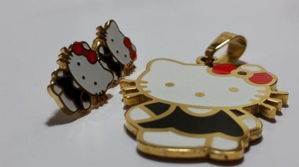 Hello Kitty Pendant and Earrings