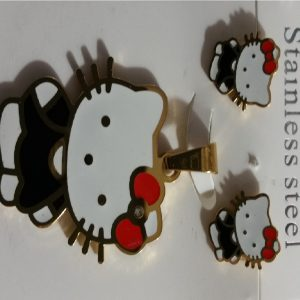 Hello Kitty Pendant and Earrings