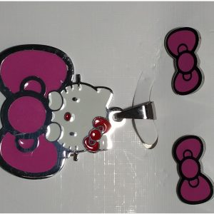 Hello Kitty Silver Pendant and Earrings