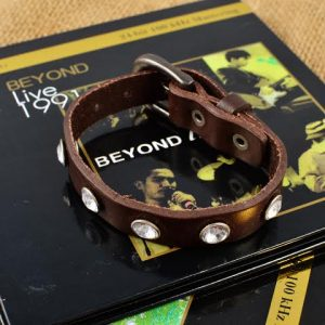 Leather crsytal bracelet