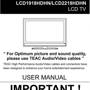 TEAC LCD19-2218HDHN User Manual