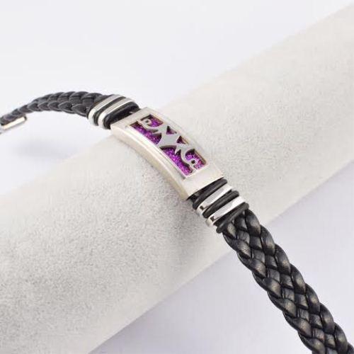 Leather Braided Charm bracelets