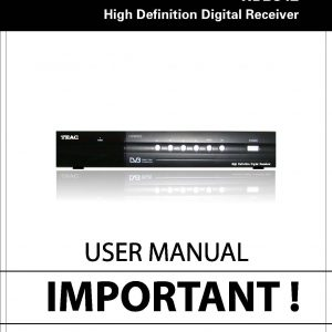 TEAC User Manual