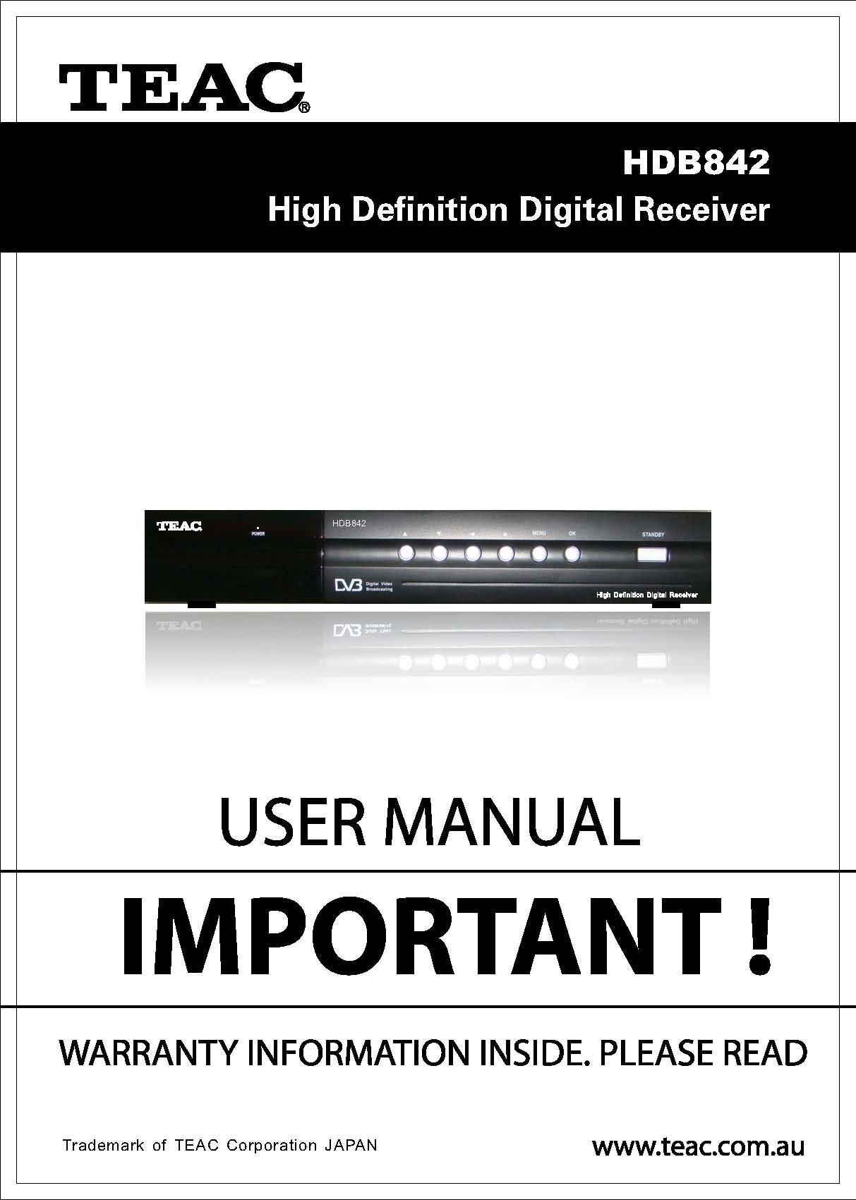 TEAC User Manual
