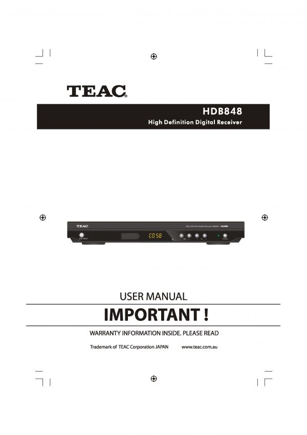 TEAC HDB848 Instruction Manual
