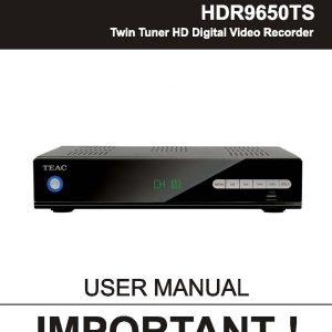TEAC HDR9650TS User Manual