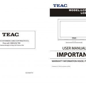 TEAC LCD192HD Instruction Manual