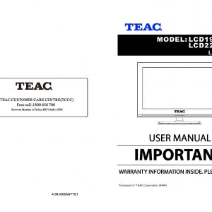TEAC LCD198HDM 228HDM User Manual