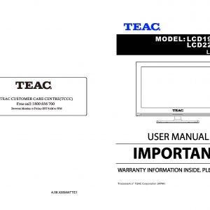 TEAC LCD198HDM 228HDM User Manual