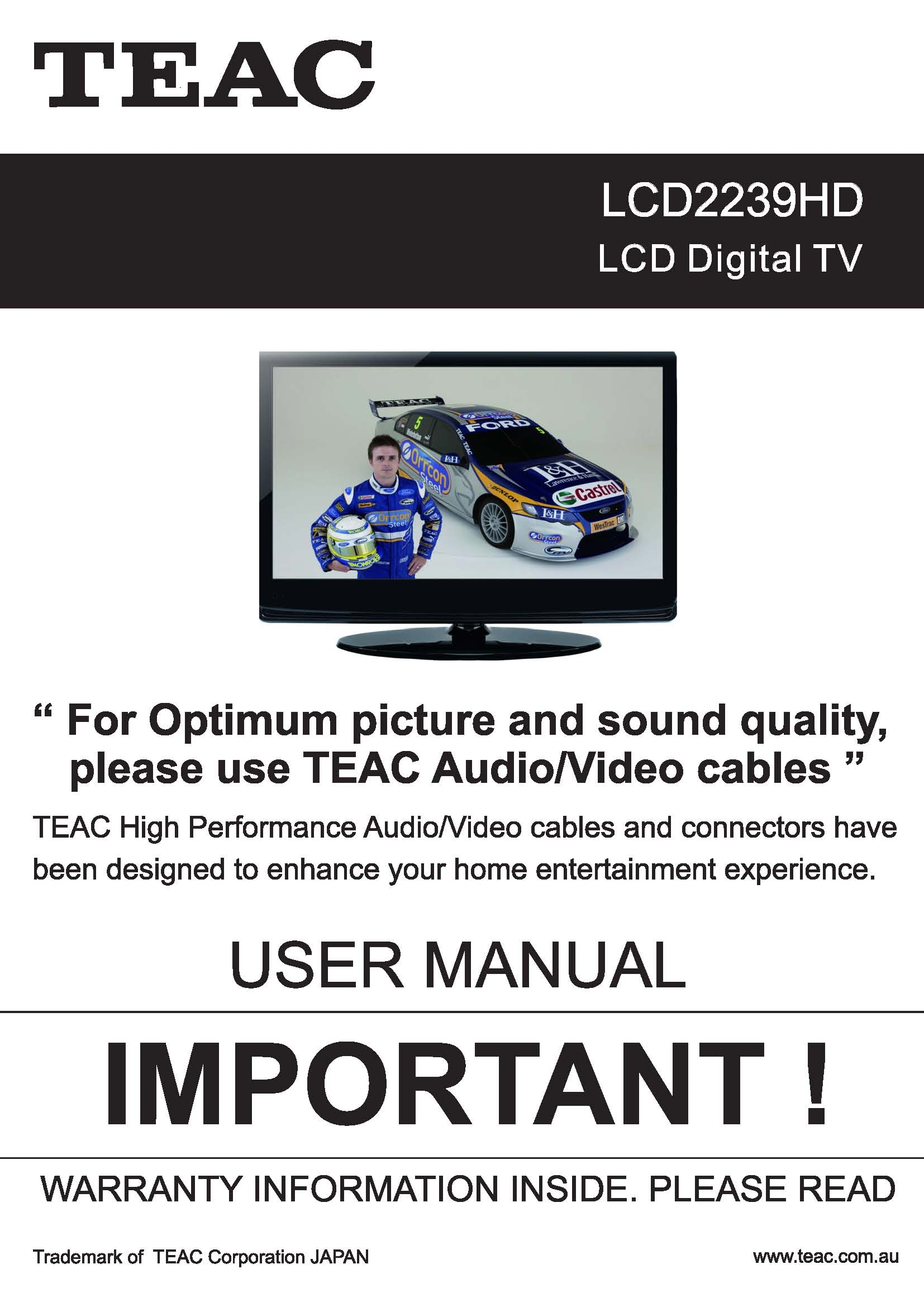 TEAC LCD2239HD User Manual