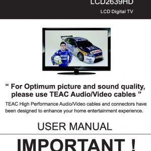 teac hdb849 user manual store809 rh store809 com TEAC Model 2 Manual TEAC 3340 Service Manual