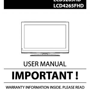 TEAC LCD3265HD LCD4265FHD User Manual