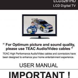 TEAC LCD3281HD User Manual
