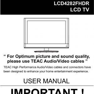 TEAC LCD4282FHDR User Manual