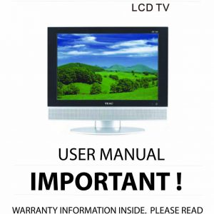 TEAC LCDV1950SD User Manual