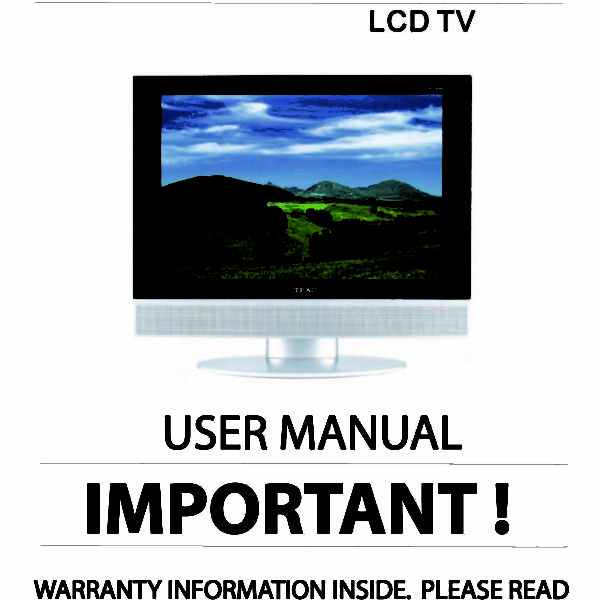teac lcdv1950sd instruction manual store809 rh store809 com Owner's Manual Instruction Manual Clip Art
