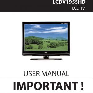 TEAC LCDV1955HD User Manual