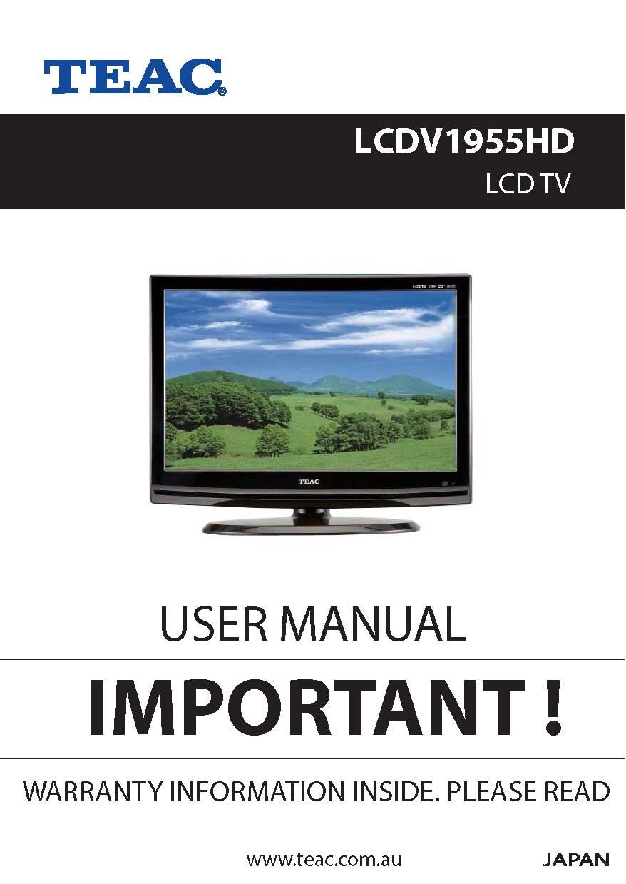 teac lcdv1955hd user manual store809 rh store809 com TEAC 3340 Service Manual TEAC Model 2 Manual