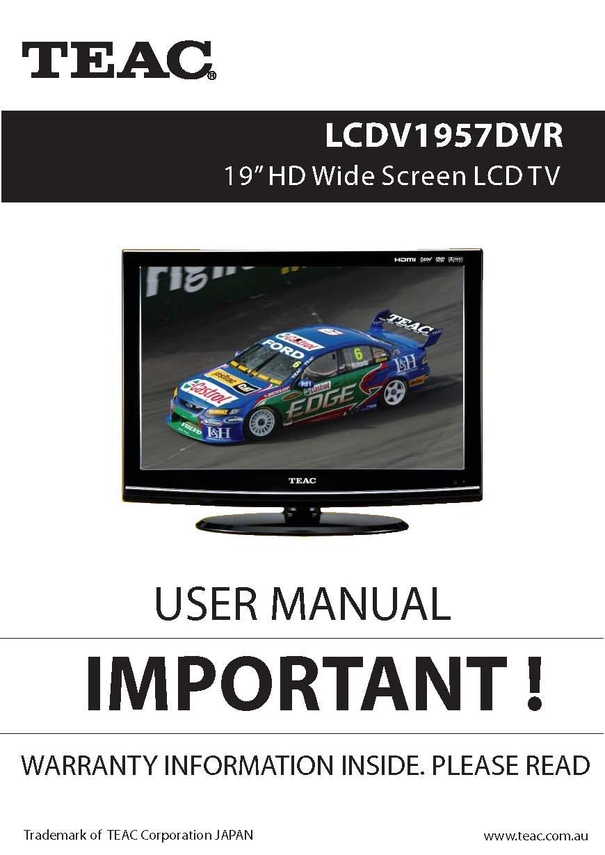 teac lcdv1957dvr user manual store809 rh store809 com TEAC CD Recorder Manual TEAC 3340 Service Manual