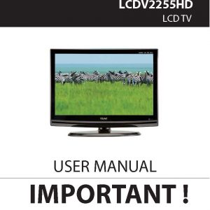 TEAC LCDV2255HD User Manual