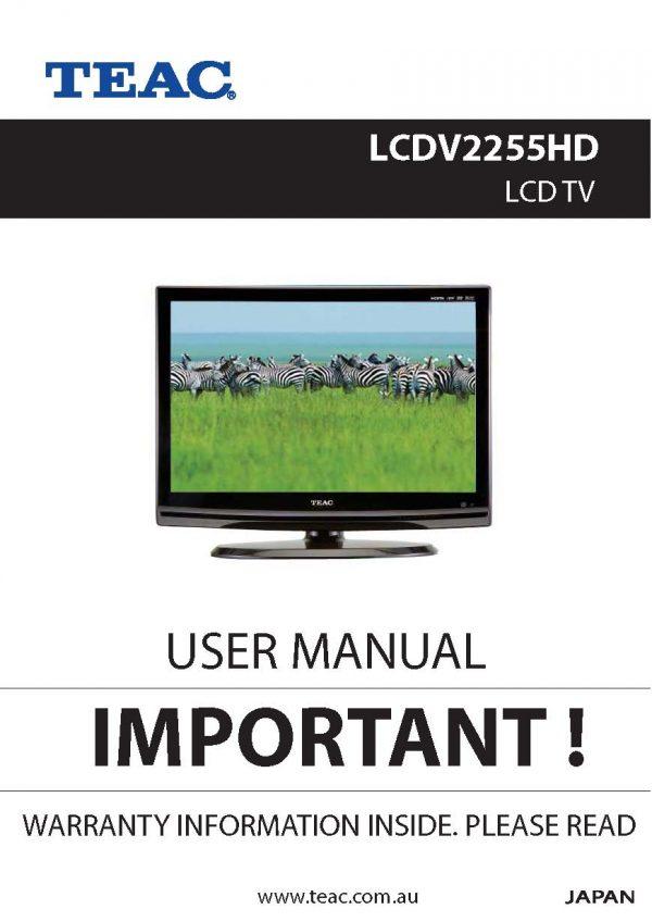 TEAC LCDV2255HD User Manual
