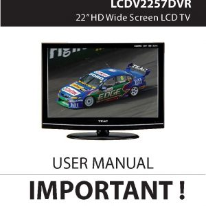 TEAC LCDV2257DVR User Manual