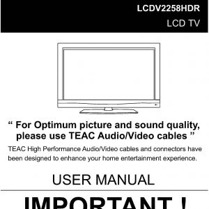 TEAC LCDV2258HDR User Manual