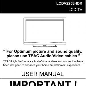 TEAC LCDV2258HDR User Manual