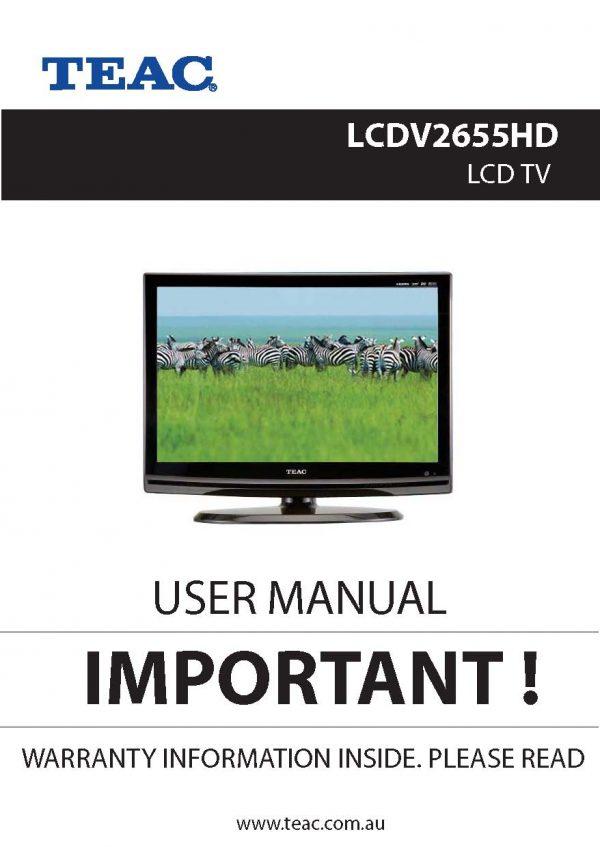 TEAC LCDV2655HD Instruction Manual