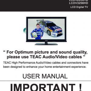 TEAC LCDV2656HD&LCDV3256HD User Manual