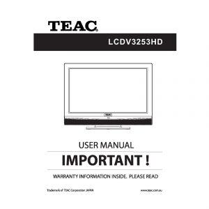TEAC LCDV3253HD User Manual