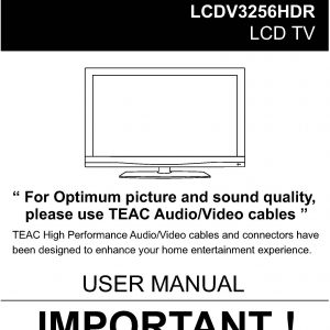 TEAC LCDV3256HDR User Manual