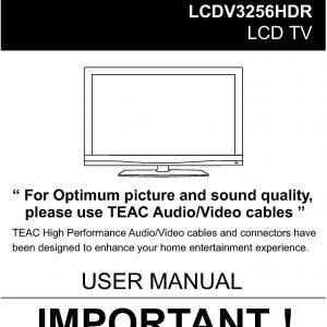 TEAC LCDV3256HDR User Manual