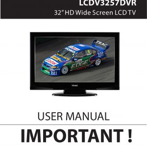 TEAC LCDV3257DVR user manual