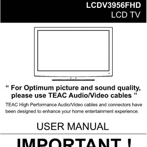 TEAC LCDV3956FHD User Manual