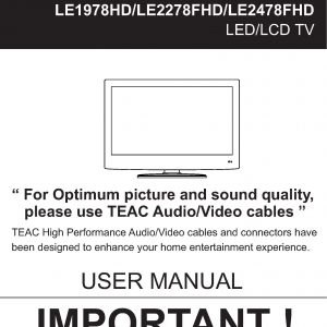 TEAC LE1978HD 2278FHD 2478FHD User Manual