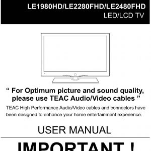 TEAC LE1980HD 2280FHD 2480FHD User Manual
