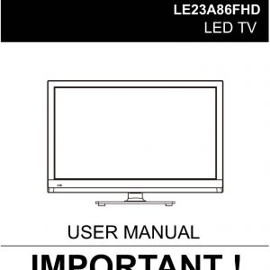 TEAC LE23A86FHD User Manual