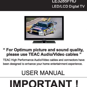 TEAC LE3285FHD User Manual