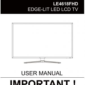 TEAC LE4618FHD User Manual