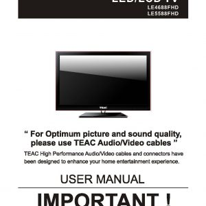 TEAC LE4688FHD LE5588FHD User Manual