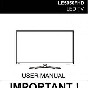 TEAC LE5050FHD User Manual