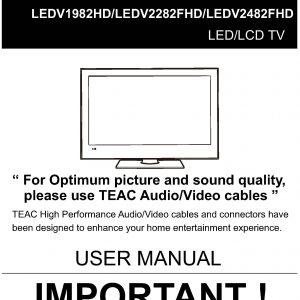 TEAC LEDV1982HD LEDV2282FHD LEDV2482FHD_User_Manual