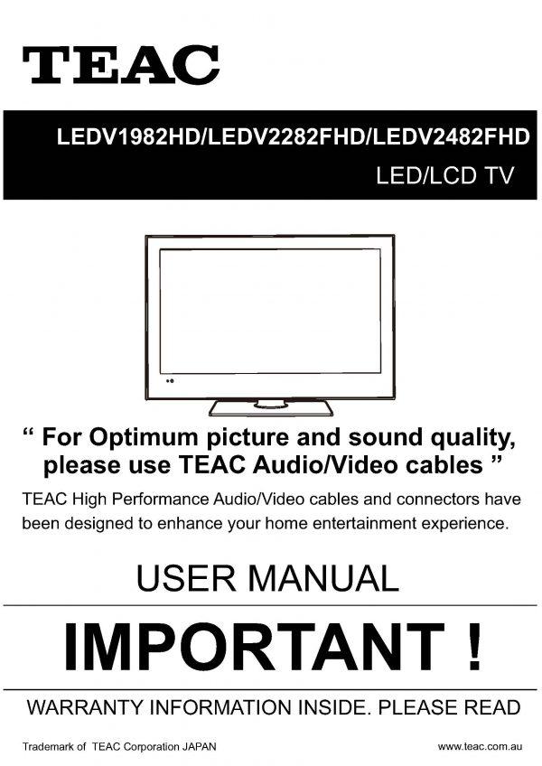 TEAC LEDV1982HD LEDV2282FHD LEDV2482FHD_User_Manual