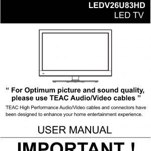 TEAC LEDV26U83HD_User_Manual