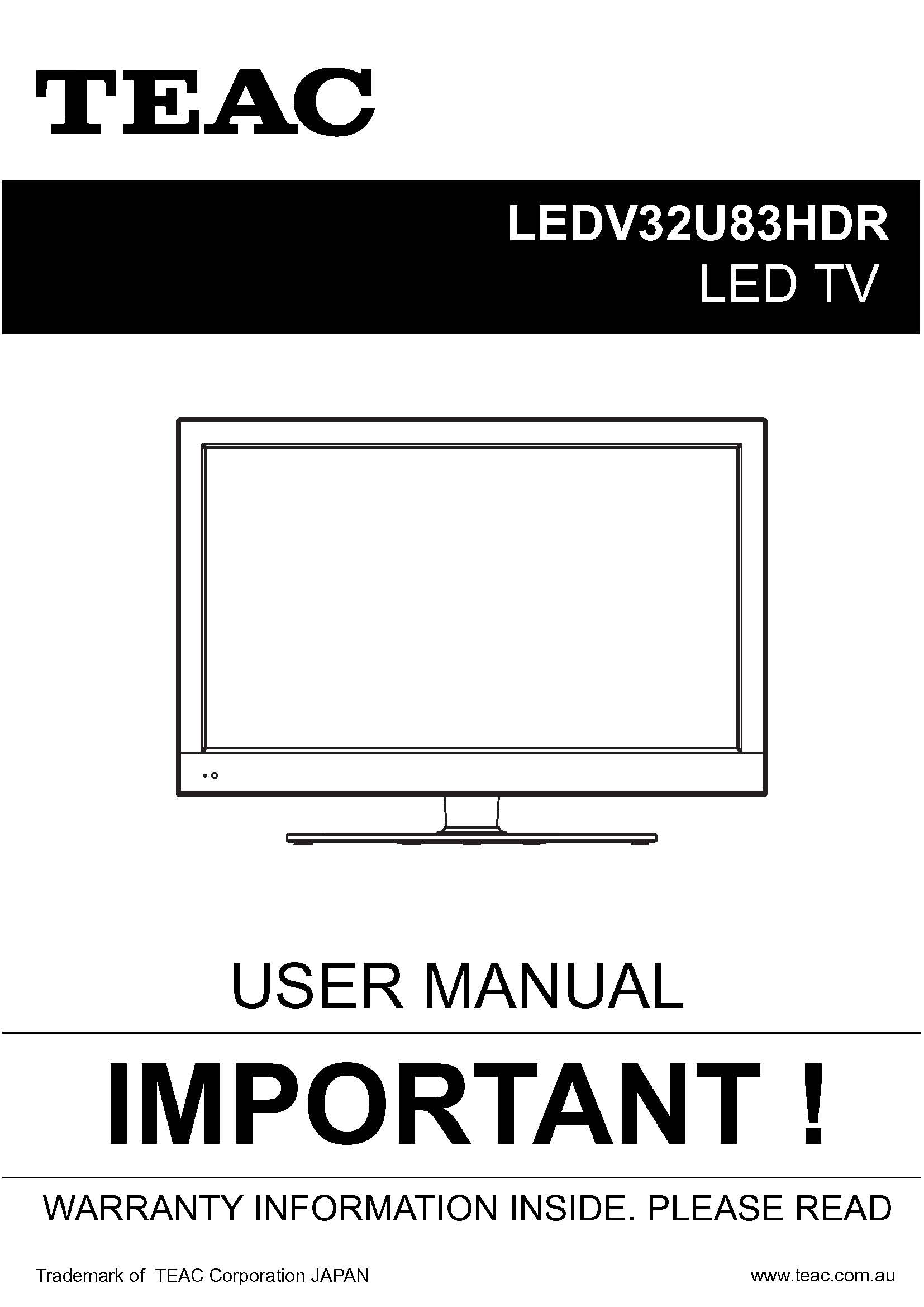 TEAC LEDV32U83HDR_User_Manual