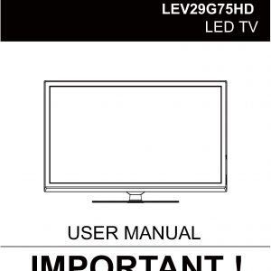 TEAC LEV29G75HD_User_Manual
