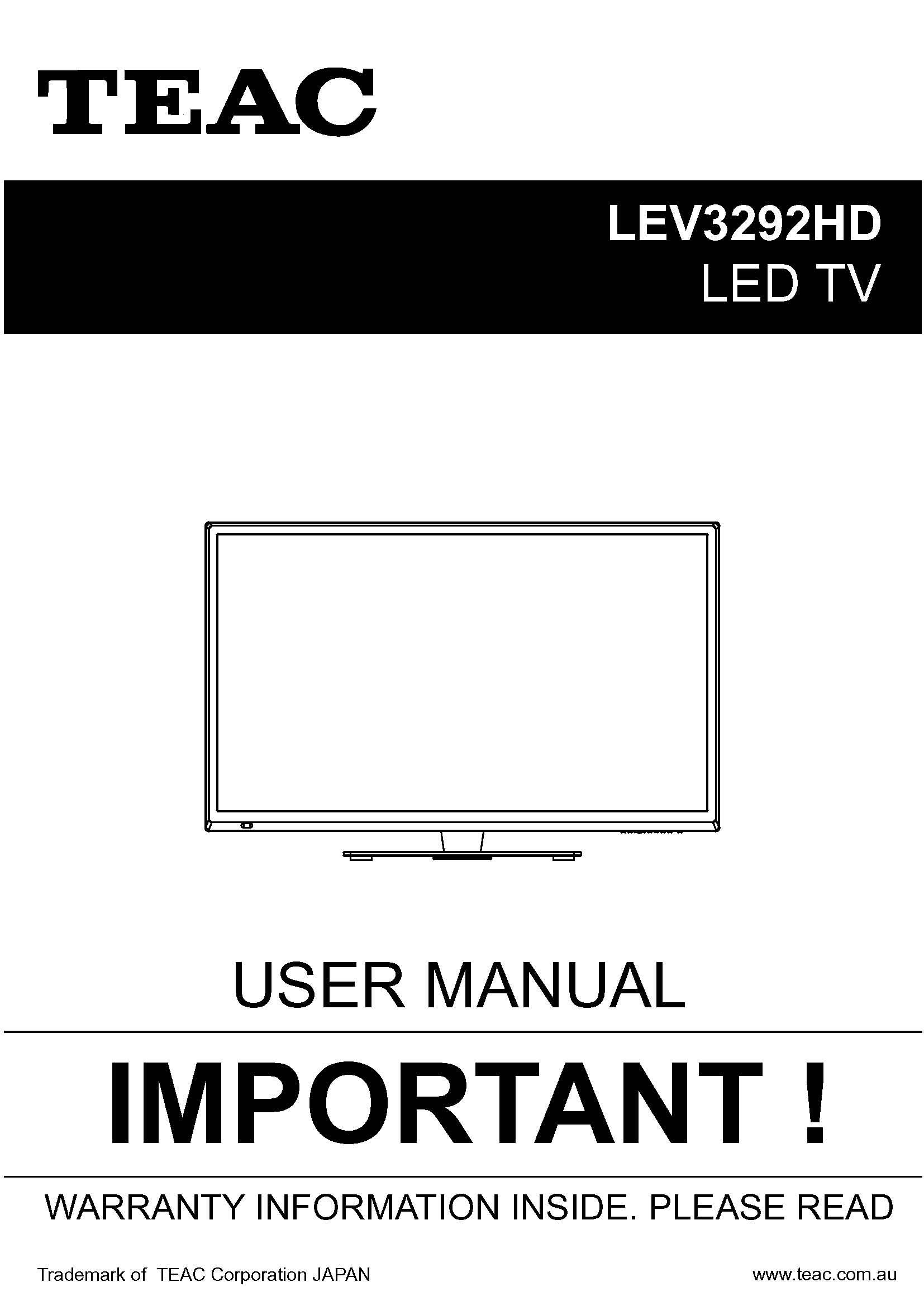 TEAC LEV3292HD_User_Manual
