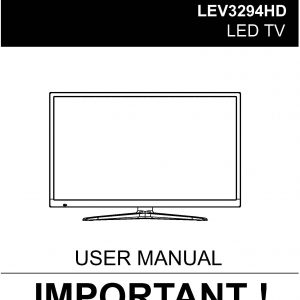TEAC LEV3294HD_User_Manual